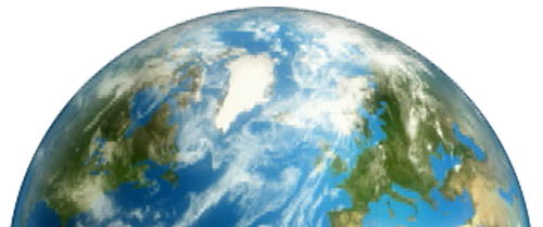 medio globo terraquio